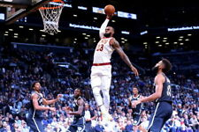 "193 NBA DUNK BLOCK STAR - LeBron James USA Classic Basketball 36""x24"" Poster"