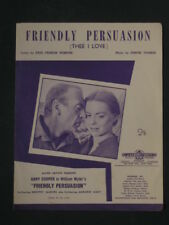 FRIENDLY PERSUASION  50's Sheet Music,GARY COOPER