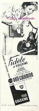 PUBLICITE SOLEXINE VELOSOLEX BIDON CAPSULE VERTE ANTI CALAMINE DE 1964 FRENCH AD