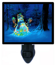 Night Light - Christmas Snowman - Christmas Lights - Light Bulbs - Winter