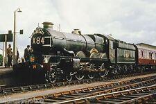 British Rail GWR Castle No.7029 Clun Castle 11/05/65 Westbury Rail Photo R0135