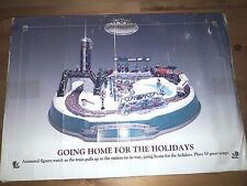 MR CHRISTMAS GOLD LABEL GOING HOME HOLIDAYS TRAIN  STATION  ANIMATED DISPLAY