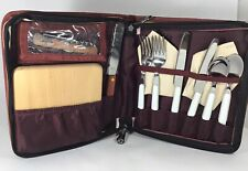 PICNIC Set  W/ CUTTING BOARD, OPENER, Flatware , NAPKINS Picnic Time Never Used