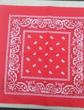 Paisley bandana Red