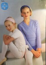 Knitting Pattern 4ply Girls Ballet Cardigan Long/short Sleeves Size 24/30""