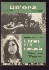 SPARTITO SHEET MUSIC NEW TROLLS UN'ORA / ANGELA BI L'ESTATE SI E' NASCOSTA 1969