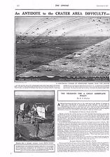 1917 ANTIQUE PRINT - WW1- AN ANTIDOTE TO THE CRATER AREA DIFFICULTY, 2 PAGES