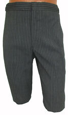 New Mens Grey & Black Hickory Striped Trousers Pants Morning Dress 100% Wool