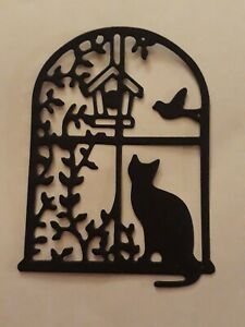Die Cuts pack of 10 ( can be one colour of 5 of each two colour) Cat in Window