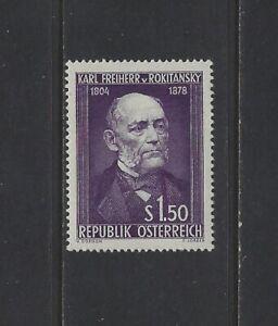 AUSTRIA - #592 - Dr. KARL von ROKITANSKY, PHYSICIAN MINT STAMP MLH