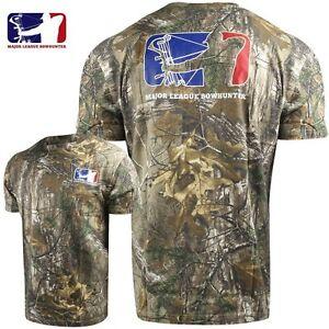 Major League Bowhunter Realtree Xtra Camo Bow Hunting T Shirt Size M, L, XL, 2XL