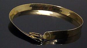 New Men Ladies 10K Yellow Gold Herringbone Bracelet 6 mm 8 Inch