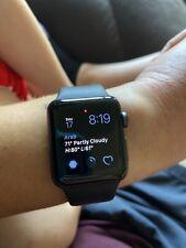 Apple Watch Series 3 38 mm Gray Case Black Aluminium Smartwatch - MTF02LLA