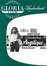 Werberatschlag | UNBEZÄHMBARE ANGELIQUE | Original Gloria 1967 | Michele Mercier