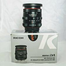 HD Pentax DA 20-40mm f/2.8-4 Limited DC WR