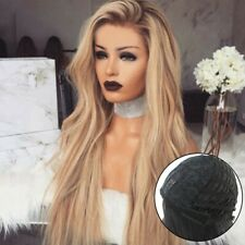 Women Ladies Long Blonde Ombre Curly Wigs Natural Full Wavy Hair Wig Q&~