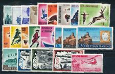 San Marino 1961 annata completa 22 valori (esclusi Bf) Mnh