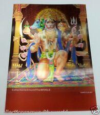 Hindu Lord Sitting Panchmukhi Hanuman & God Sita Ram 3D Lenticular Photo Poster
