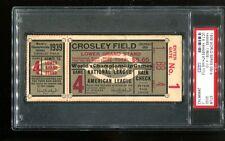 1939 World Series Game 4 Ticket Clincher Yankees 7 Reds 4 PSA #26896742