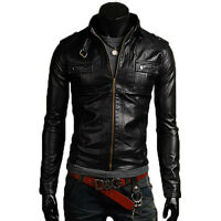 Giacca Giubbotto in Pelle Uomo Men Leather Jacket Veste Blouson Homme Cuir N11