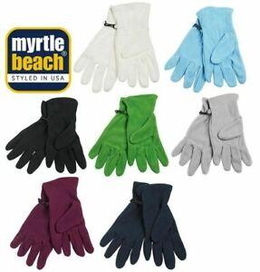 Myrtle Beach Wärmende Fleece Handschuhe für Damen und Herren MB7700 7 Farben