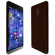 Skinomi Dark Wood Skin+Clear Screen Protector for HP Elite x3