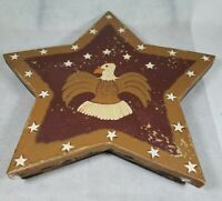 Jeanette McVay Folk Art Hand Painted Patriotic Large Star Box Signed