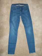 7 FOR ALL MANKIND Jeans Size 29 / 8 28W 30L Stretch THE SKINNY Jeggings £170 VGC