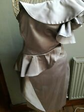 Karen Millen Argent Signature une épaule robe de cocktail Taille 12