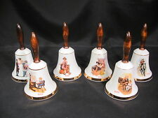 Norman Rockwell School Days Bell Collection Set of 6
