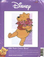 "Winnie the Pooh Cross Stitch Kit ""Pooh Colour Block"" - *NEW*"