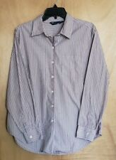 Shaver Lake Long Sleeve Button-Up Down Multi Color Striped Dress Shirt Size L