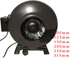 Rohrventilator Radialventilator inkl Fuß+Kabel IP44 100 - 315 mm Top Ware A1