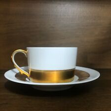 Limoges France Anneau d'Or Ceralene A Raynaud 1 Saucer and cup MCM Holiday Party
