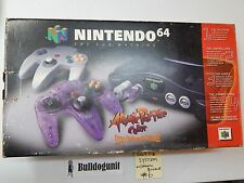 Nintendo 64 Game System Atomic Purple Variant Complete in Box Cib Console N64 #6