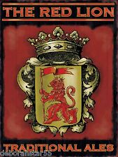 Large THE RED LION Vintage Style English Pub Advertising Metal Tin Sign New
