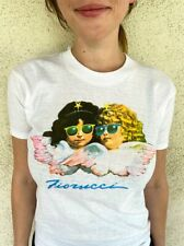 FIORUCCI 1980's VINTAGE ANGELS SHIRT -White, NEW OLD STOCK SIZE MEDIUM