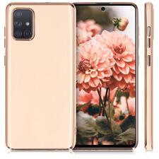 Funda para Samsung Galaxy A71 con brillo y bordes metalizados