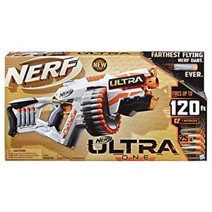 NERF Ultra One Motorized Blaster Gun w/t 25 Ultra Darts Farthest Flying Toy Gift