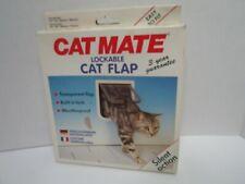Cat Mate Lockable Cat Flap Weatherproof Silent Action Transparent Flap Unused