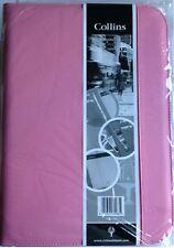 Nuevo Rosa Collins A4 Conferencia Carpeta Con Cremallera, almohadilla y carpeta..