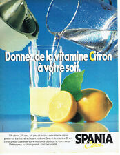 Publicité Advertising 107  1984   Citron  Spania vitamine C