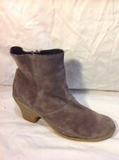 Sandwich Brown Ankle Suede Boots Size 41