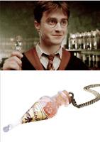 Harry Potter Hogwarts Felix Felicis Potions Glass Bottles Necklace Cosplay Prop