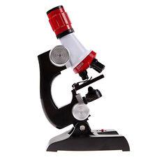Kinder-LED Mikroskop Kit Science Lab Home School pädagogisches Spielzeug Neu