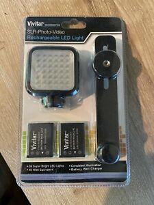 VIVITAR SLR/Photo/Video Rechargeable LED Light & Battery Charger #VIV-VL-400 NEW