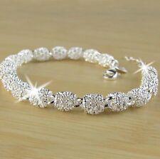 Elegantes Armband für jeden Anlass Silber Schmuck Damen Armreif Kette  P45