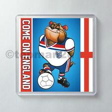 New Acrylic Drinks Coaster, England Retro World Cup Mascot BULLDOG BOBBY