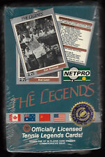 1991 Netpro Tennis The Legends Sealed Trading Card Pack Box 40 Unopened Packs