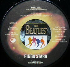 """*<* RINGO STARR 1974 #6 HIT """"ONLY YOU/CALL ME"""" CLEAN M- 45/CUSTOM LABEL! BEATLES"""